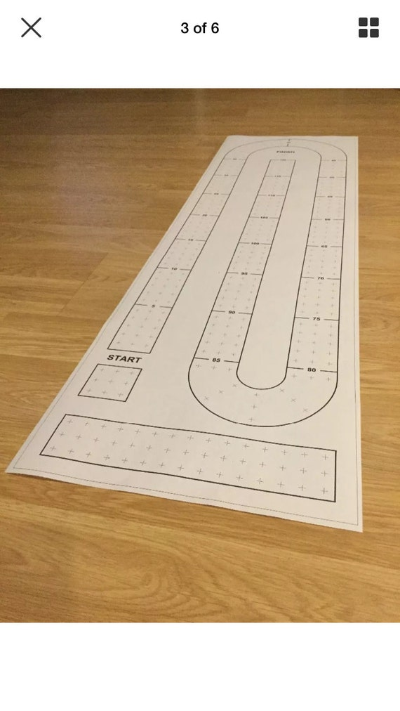 Dynamic image throughout printable cribbage board template