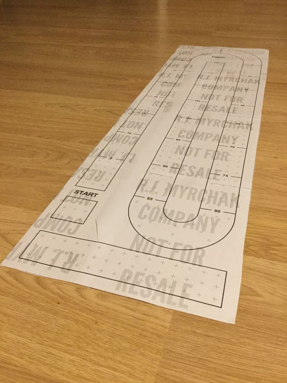 Clever image with printable cribbage board template