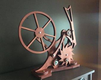Spring Powered Wheel Kinetic Sculpture Plans