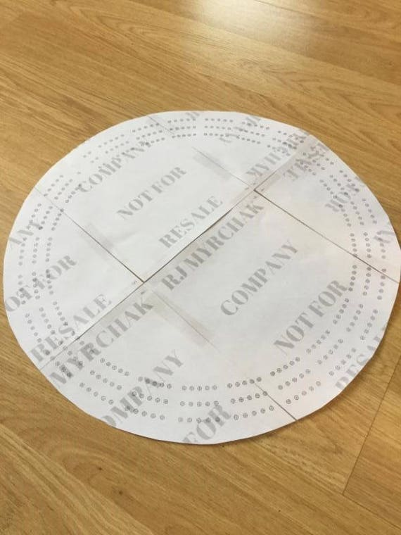 Large Round Cribbage Board Hole Pattern Paper Template Digital Download