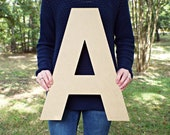 Wood Letters, Unfinished MDF Letters, 1.5 quot -20 quot , Paintable Letters, Nursery Decor, Alphabet Letters, Baby Shower Crafts, Block Font