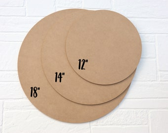 """Craft Rounds - Blank Round Signs – 1/4"""" MDF wood"""
