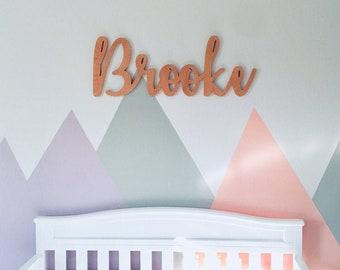 Baby Name Sign, Custom Name Sign, Nursery Name Sign Cutout