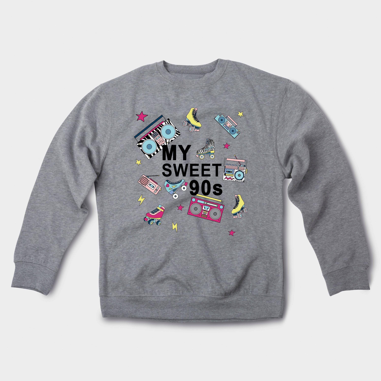 My Sweet 90 s Sweatshirt Nineteens tenue vêtements tenue Nineteens tendance pull graphique Tumblr Pullover pull esthétique polaire Vintage Sweat à capuche GO3072 8c8641