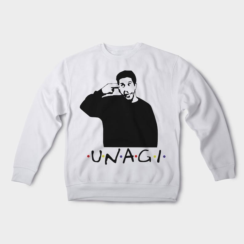 a272dd1b38e Unagi sweatshirt Friends TV show Ross sweatshirt Funny