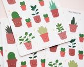 Cute Cartoon House Plants Sticker Sheet