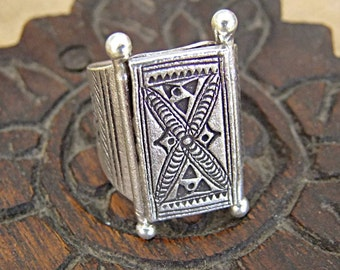 Sterling Silver Ring. Silver Jewelry. Hill Tribe Silver Ring. Silver Ring 925. Silver jewellery.  Ethnic jewellery.