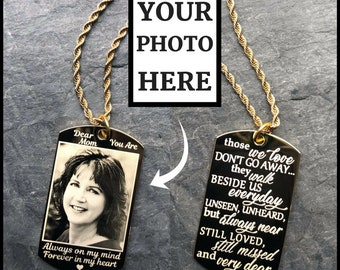 Custom Grief Gift Those We Love Dont Go Away They Walk Beside Us Every Day Personalized Memorial Necklace In Memory Of Mom Jewelry