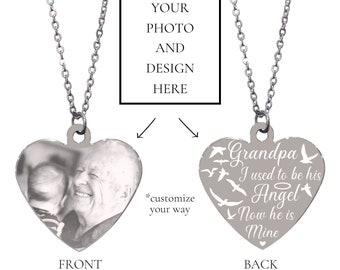 Silver Grandpa In Memory Bracelet Grandpa In Memory Granddaughter Gift Forever in my Heart Gift Grandpa Memorial Keepsake Grandpa Loss