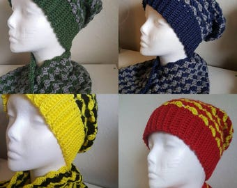 Harry Potter Inspired Slouchy Hat and Cowl sets