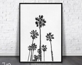 Black white photography etsy palm tree print tropical print black and white palm printable palm california tree art tropical wall art tropical decor large poster mightylinksfo