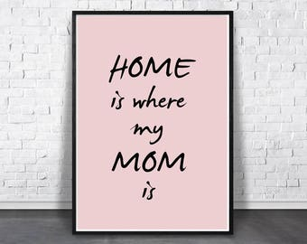 mom wall art mom print inspirational print quote poster etsy