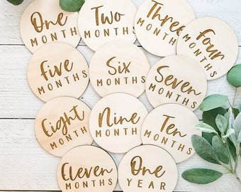 Months In Motion Baby Monthly Milestone Stickers Infant Photo Prop for First Year| Set of 20 1338 First Year Set of Baby Boy Month Stickers for Photo Keepsakes Shower Gift