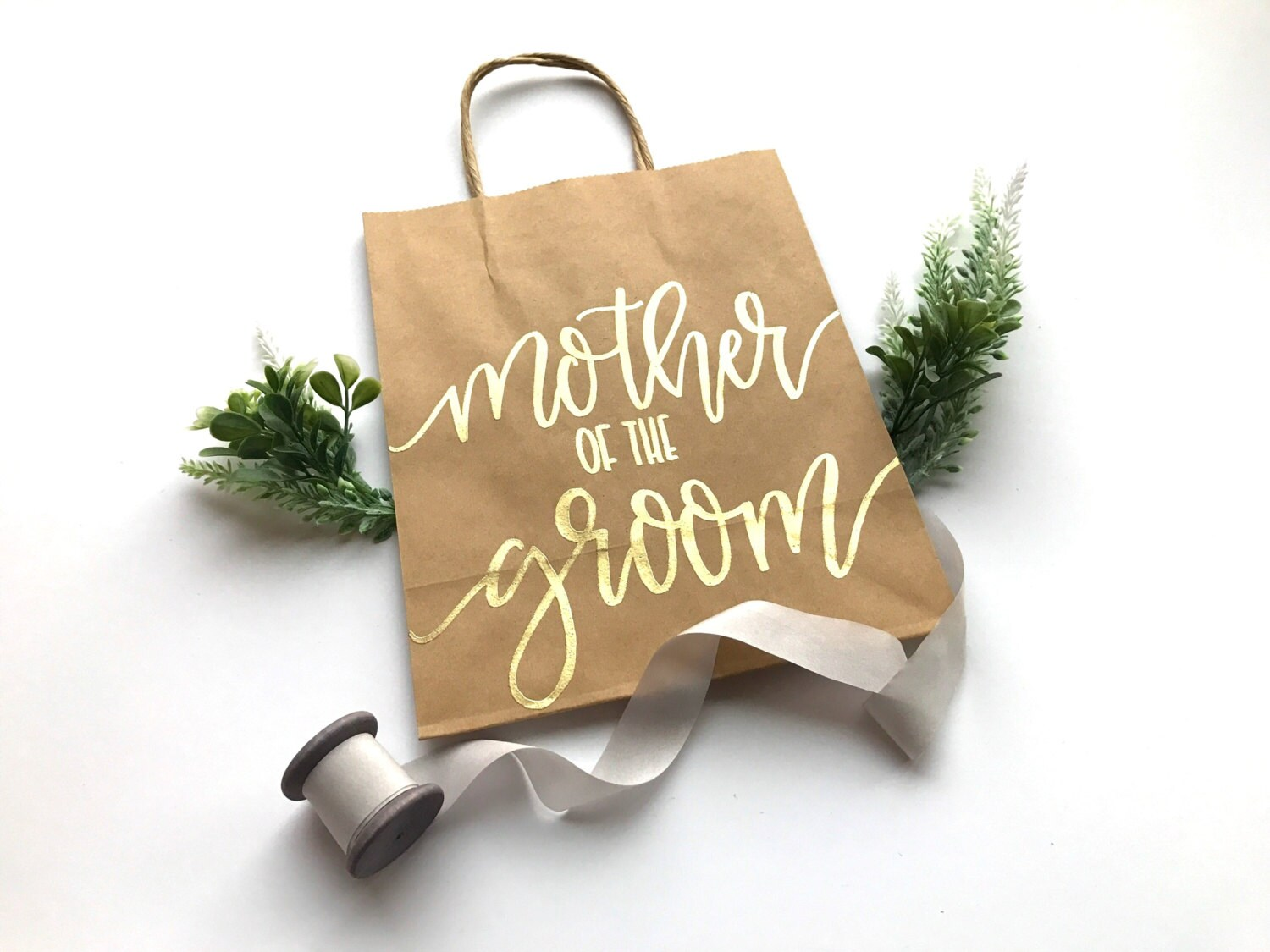 Mother Of The Groom Gift: Mother Of The Groom Gift Bag 8x10 Kraft Paper