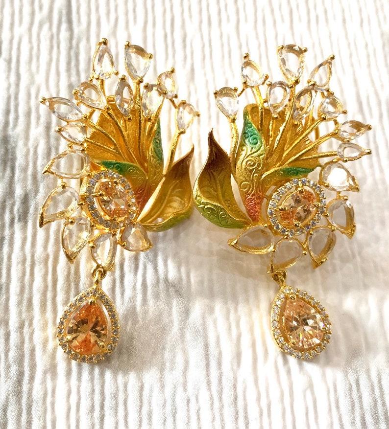 Jhumka Earrings, Indian Jewelry, Indian Earrings, Bollywood Jewelry,  Pakistani Earrings, Victorian Earrings, Gold Jhumka, Diamond Earrings