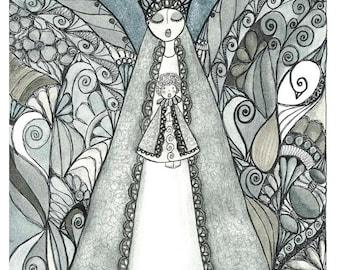 La Santa Maria #777 print from an original painting by Ninoska