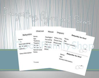 babysitting flyers and forms pdf download