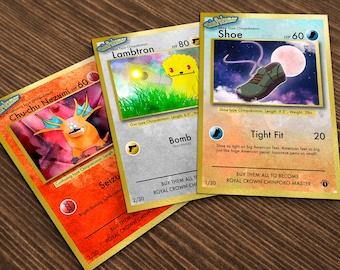 Southpark Chinpokomon Cards/Art Prints - Set of Three - A7 Size