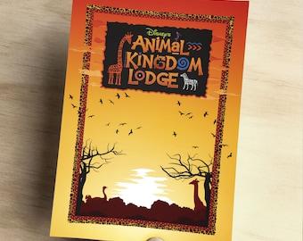 Animal Kingdom Lodge Disney Art Print - A6