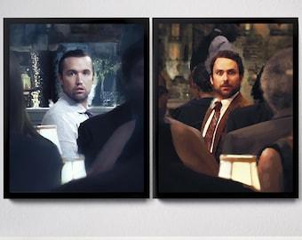 Always Sunny - Mac and Charlie Portrait Art Prints