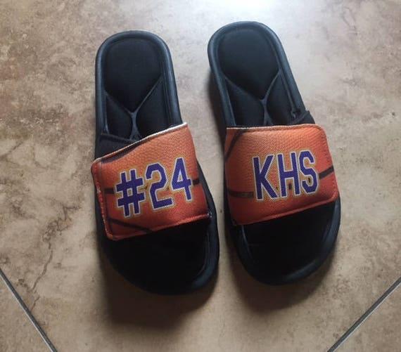 custom basketball slides basketball slide on sandals custom etsy