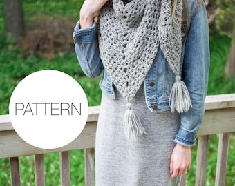 Crochet Pattern | The Everyday Triangle Scarf | Crochet Triangle Scarf Pattern