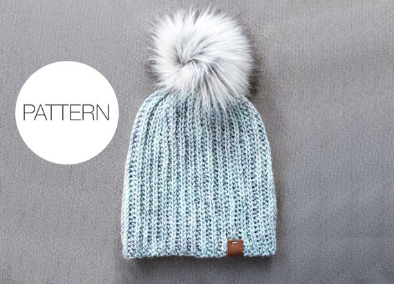 Crochet Pattern The Glacier Beanie Slouchy Ribbed Crochet Etsy