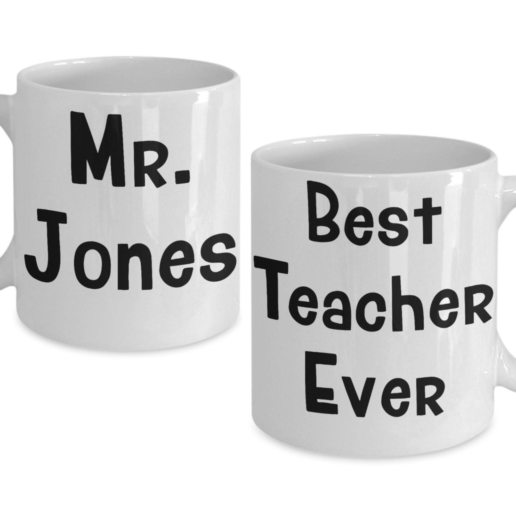 Personalized Custom Teacher Mug Gift For Male