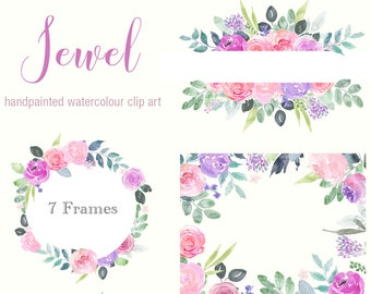 Floral Clip Art Peonies Flower Frames Pink Peony Clipart Etsy