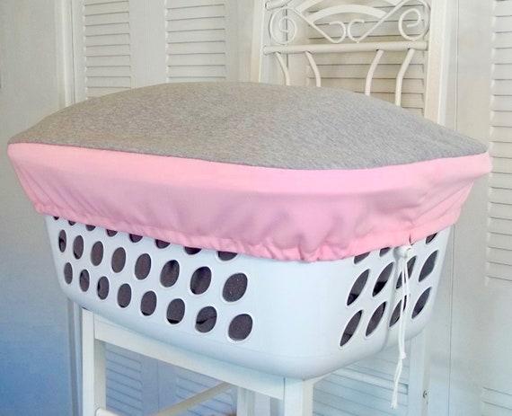Terrific College Student Gift Dorm Room Decor Dorm Storage Storage Box Laundry Basket Organizer Fabric Cover Gift For Her Gray Top Pink Side Inzonedesignstudio Interior Chair Design Inzonedesignstudiocom