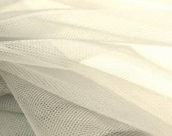 White tulle 150 cm wide polyester