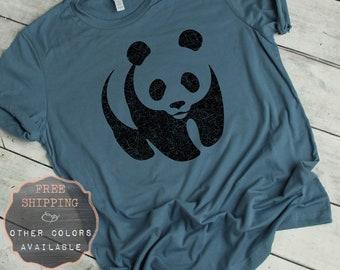 54e62bd17 Panda T Shirt, Panda Bear, Panda Lover Gift, Animal Tshirt, Zoo Shirt, Fun  Tshirts, Cute Panda Shirt, Hipster T Shirt, Trendy Tshirts