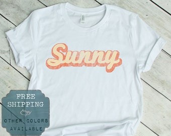 2015567d0 Sunshine Shirt, Retro Summer Tshirt, Throwback Tee, Beach Shirts, Lake Shirt,  Outdoor Tshirt, 70s t shirt, Hipster tshirt, 60s t shirt