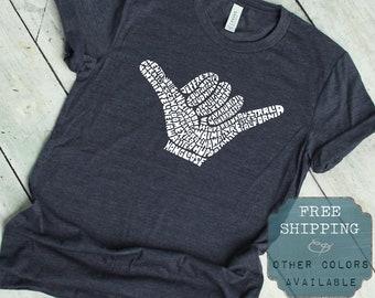 cc838c05 Hang Loose T Shirt, Shaka Shirt, Chill Shirt, Chillin Tshirt, Hawaii Shirt,  Grunge T Shirt, Funny Graphic Tee, Trendy Tshirt, Surfer T Shirt
