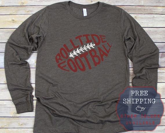 half off 71291 c2795 Roll Tide Shirt, Rolltide Shirt, Roll Tide Football, Long Sleeves, Football  Tshirt, Alabama Crimson Tide, Alabama T Shirt, Alabama Tailgate
