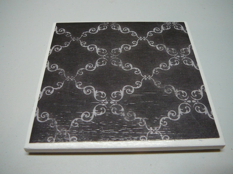 Set of 4 ceramic tile coasters