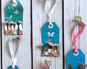 Easter Bunny Gift Tags - Bunny Gift Tags- Easter Gift Tags - Easter Basket Tags - Easter Tags Bunny