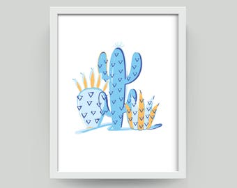 Colourful Cactus Art Prints