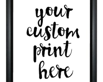 Your A4/A5 Bespoke Custom Quote Print