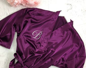 5f0a09eeb7 Personalized Robe   Glitter Bridesmaid Robe   Bridal Robes   Wedding Satin  Robes   Script font
