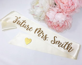 personalized bride to be sash future mrs sash bachelorette sash bachelorette party bridal shower bride to be smbrcor