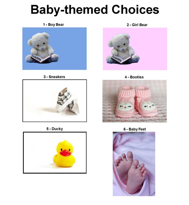 Semi-Custom Reveal Announcement Magnets Babies  Engagements  Anniversary Celebrations  Gender Reveal Ideas