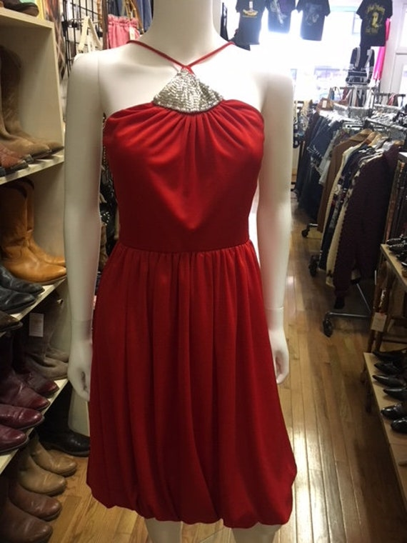 80's vintage inner circle inc  red shinny party dr