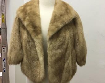 1950's vintage  mink fur shawl