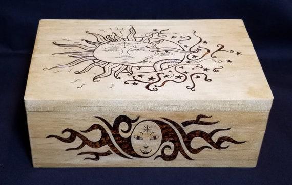 Burned Wood Trinket box