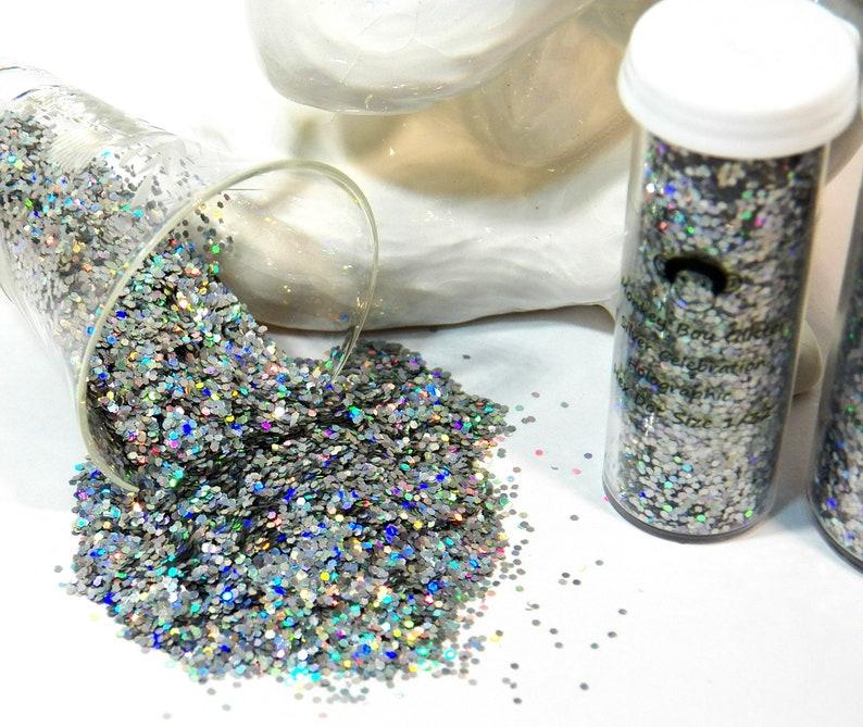 Size 132 Silver Celebration Holographic Beautiful Shine B-264 Fiery