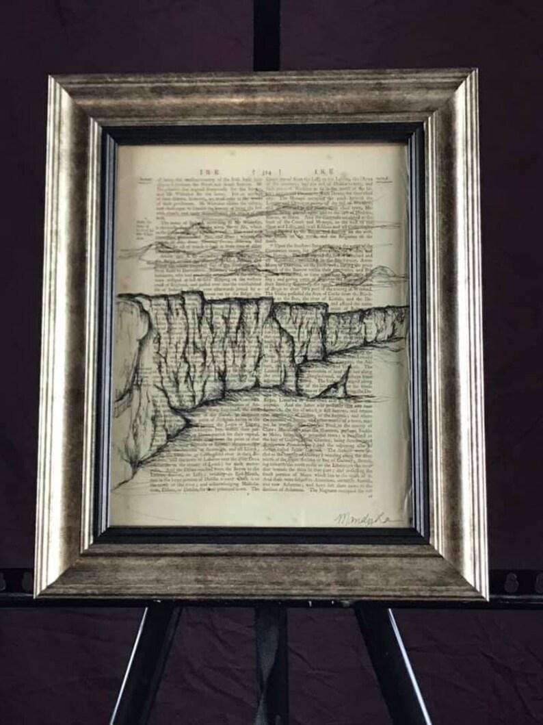 8.5 X 11 Print titled Cliffs