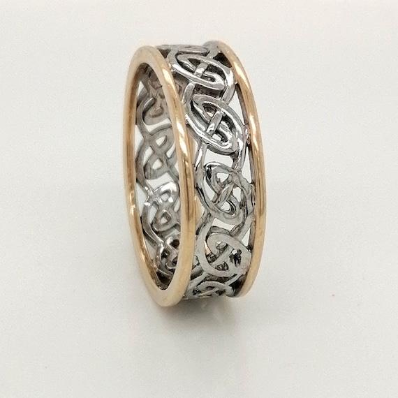 Irish celtic wedding ring, trinity knkr wedding ri