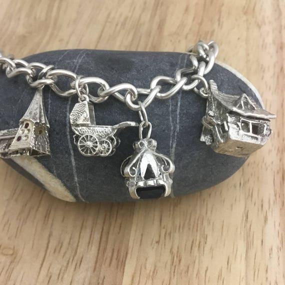 Vintage charm bracelet,vintage charm,large charm … - image 6