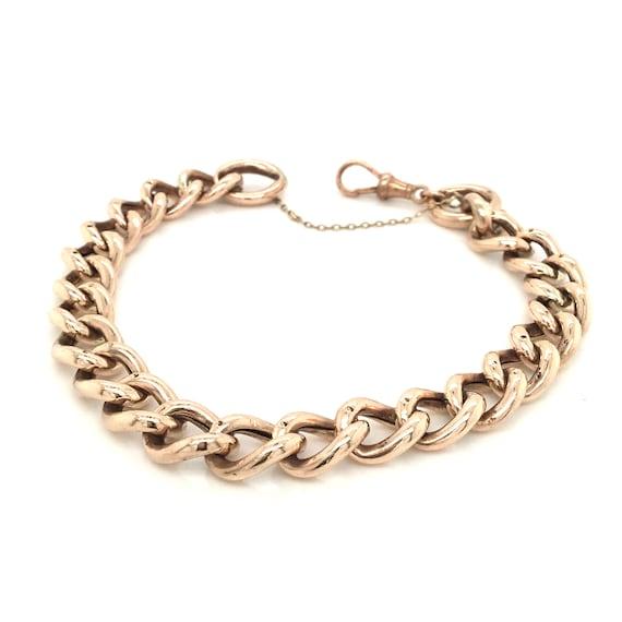 Vintage gold charm bracelet, 9k yellow gold bracel